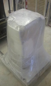 Wrapped and ready for transport and instalation